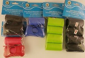 Dog Waste Bags with/out Dispensers, Select: With or Without Dispenser