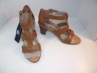 Womens Dr. Scholl's Proud True Comfort High Heel sandals Brown Strappy shoes 10