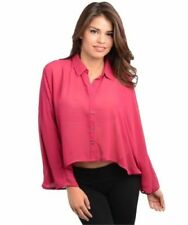 Chiffon Formal Solid Tops for Women