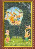 Krishna Handmade Painting Hindu Religious Home Decor Wall Hanging