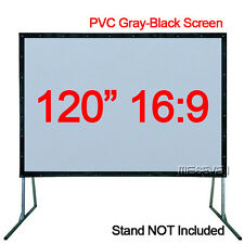 "120""16:9 Fast Fold PVC Material Soft Gray-Black Front Projection Screen Curtain"
