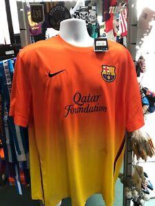 Nike FC Barcelona Away Kit Jersey 2012-13 Orange Yellow Size Men's 2XL Only