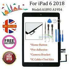 """Black Screen For iPad 9.7"""" 2018 6th Gen A1893 A1954 Touch Front Glass Digitizer"""