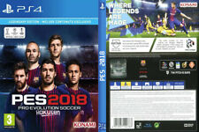 PES 2018 PS4 Replacement Box Art / Case Insert Inlay Cover (no game)