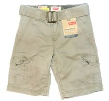 Levi's Boys Cargo Shorts Khaki with Belt Size 5 NWT