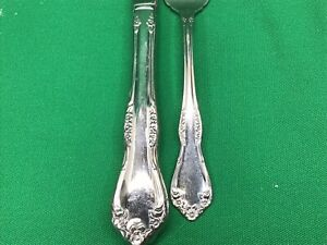 Antique Wm ROGERS /& Bros Silver 1858 TIPPED Teaspoon 5 78