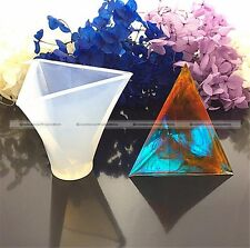 1 PC 50MM Triangular Pyramid Silicone Mold Mould For Epoxy Resin Making S8