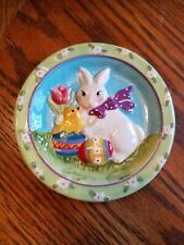 Mww Market Mini Plate Easter Bunny & Chick 4.5 inches