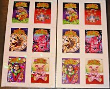 2018 GARBAGE PAIL KIDS GROSS CARD CON 2 UNCUT SHEETS PRISM AND MATTE RARE