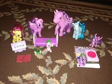 My Little Pony Lot of 5 with Accessories and Spike the Dragon Princess Luna