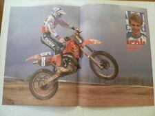 A496-DAVE STRIJBOS HONDA CR MX MOTOCROSS POSTER 1985 ? NO 8 SINISALO
