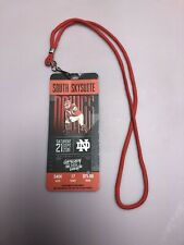 Georgia Bulldogs UGA Football 2019 Vs Notre Dame Lanyard Ticket- Used