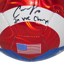 Carli Lloyd Autographed USA Flag Soccer Ball Inscribed 2X WC Champs JSA
