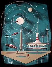 EL GATO GOMEZ RETRO JETSONS OUTER SPACE MID CENTURY MODERN FUTURISTIC 60'S PRINT