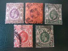 Hong Kong - King Edward Vii - Sg-62, 78, 101a, 102, 118 - all used