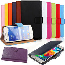 Magnetic Leather Book Cover Pouch Case For Samsung Galaxy S3 Mini GT i8190 i8195