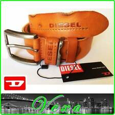 "New DIESEL Mens Genuine Leather Trouser Belt 38''-50"" Strap Buckle Jeans fast UK"