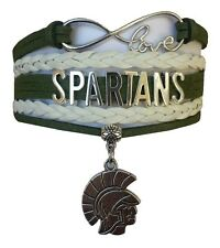 Michigan State Spartans College Infinity Bracelet Jewelry Apparel