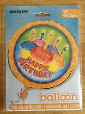 Cupcake Birthday Round 18'' Foil Balloon