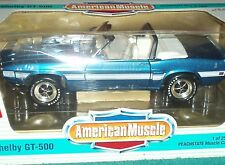 ERTL/PEACHSTATE 1969 FORD MUSTANG SHELBY GT500 CONVERTABLE PURPLE 1/18
