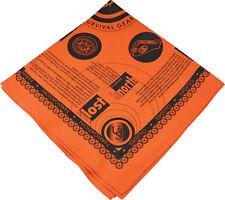 "New 22"" x 22"" Large UST Orange Survival Bandana multi purpose emergency guide"