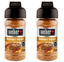 2 WEBER GOURMET BURGER Seasoning Spice Rub Grilling Spice