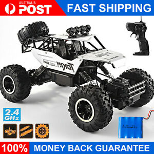 KIDS TOY 4WD RC MONSTER TRUCK OFF-ROAD CAR 2.4G VEHICLE BUGGY REMOTE CONTROL AU