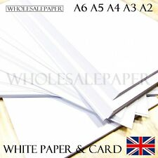 More details for a2 a3 a4 a5 a6 white card making thick paper printer copier sheets 300gsm crafts