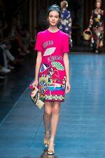 New Dolce & Gabbana Hand Embellished Italia Forever Dress - RRP $8495