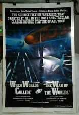 Vintage Sci-Fi Movie Poster, When Worlds Collide / War of the Worlds, 1977