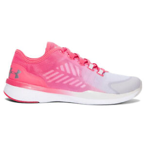 Under Armour Ladies Trainers UA Charged Push Pink Training Shoes TR SEG UK 6.5