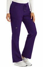 Grey's Anatomy 4277 Knit/Drawcord Waist Cargo Scrub Pant in Violet, Size 2XL