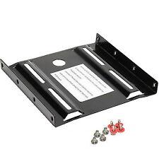 """SSD Einbaurahmen 2,5"""" auf 3,5"""" Festplatten Montage Set HDD Adapter 5663 Metall"""