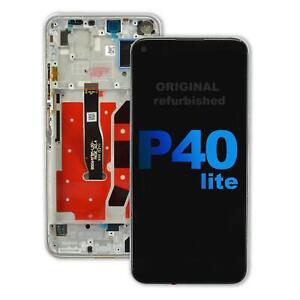 Huawei P40 lite Original refurbished Display pink LCD Touchscreen Rahmen