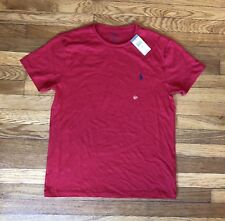POLO RALPH LAUREN Red Basic Essential T-shirt Medium NWT