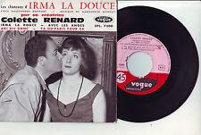"""FRENCH EP 7"""" COLETTE RENARD les chansons d' IRMA LA DOUCE ** AVEC LES ANGES **"""