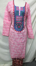 new design beautiful embroidery silk cotton salwar  kameez Size2 XL 46
