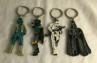 Vintage Star Wars 1997 Keychains - Darth Vader, Stormtrooper, Boba Fett, Greedo