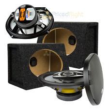 "6x9 400 Watt GS369 SSL 3 Way 6""x9"" Speakers With Enclosures Box Bundle Kit 6 x 9"