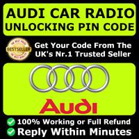 AUDI RADIO CODE PIN DECODE UNLOCK A3 A4 TT SYMPHONY RNS-E CONCERT CD RNSE Any