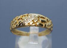 Fashion Ring 4.4 Grams Size 11 (Ri5) Men's 10k 2 Tone Gold