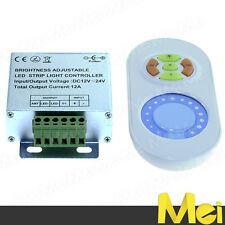 D029 dimmer striscia LED 3528 5050 5630 metal box 12A 12V 24V telecomando touch