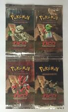 EMPTY Pokemon Neo Discovery Booster Pack Wrapper Artwork Set of 4 Packs