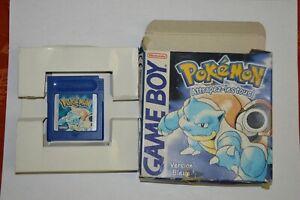 POKEMON VERSION BLEU NINTENDO GAME BOY GAME BOY COLOR Boîte cale carton origine