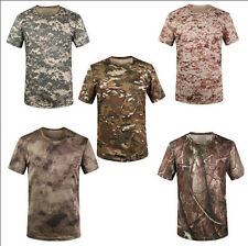 6808 Men's Quick-Drying Camouflage Training Special T-shirts Camo Military Tee