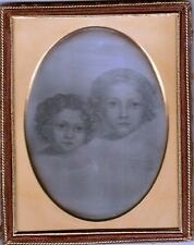 Half Plate + Daguerrotype of a portrait of Amelia & Edward Jackson Holmes Boston