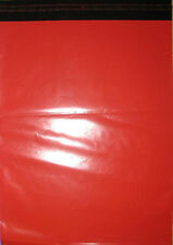"50 Red Mailing Courier Bags 250x350mm 10x14"" Free P&P"