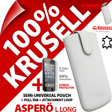 Krusell Aspero L Long GENUINE LEATHER Case + iPhone 5 / 5S / SE Screen Protector