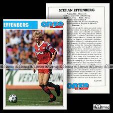 EFFENBERG STEFAN (BORUSSIA MÖNCHENGLADBACH, BAYERN MÜNCHEN) Fiche Football 1991