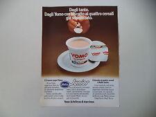 advertising Pubblicità 1978 YOGURT YOMO JUNIOR